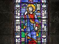 Stain glass window St Patrick