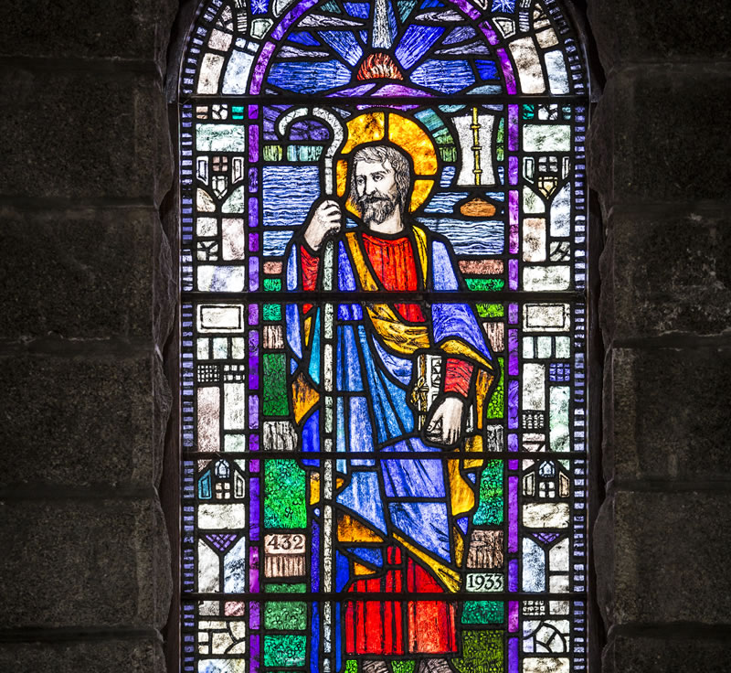 Stain glass window St Patrick